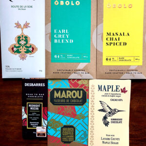 variety of chocolate bars in tea and coffee flavours gift pack